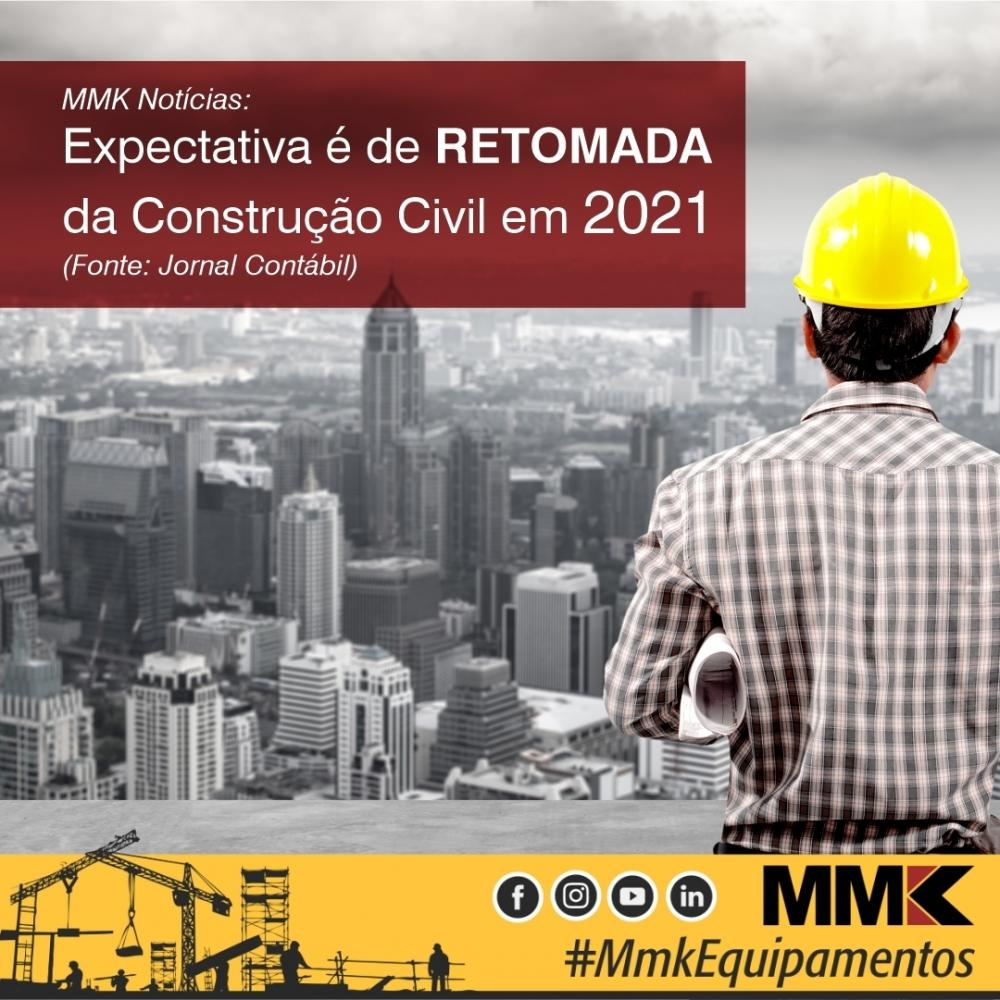 Expectativa para a construção civil em 2021 é de retomada