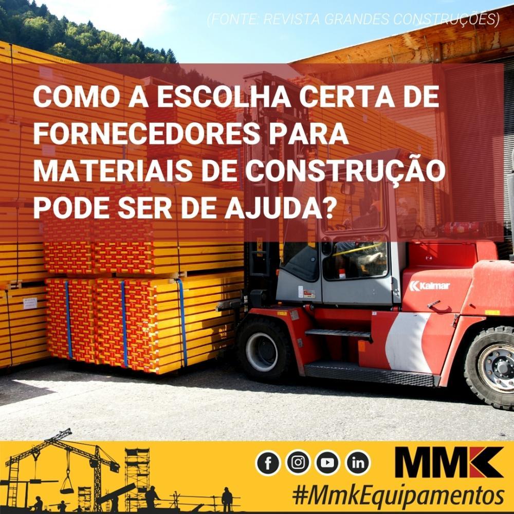 Como a escolha certa de fornecedores para materiais de construção pode ser de ajuda?