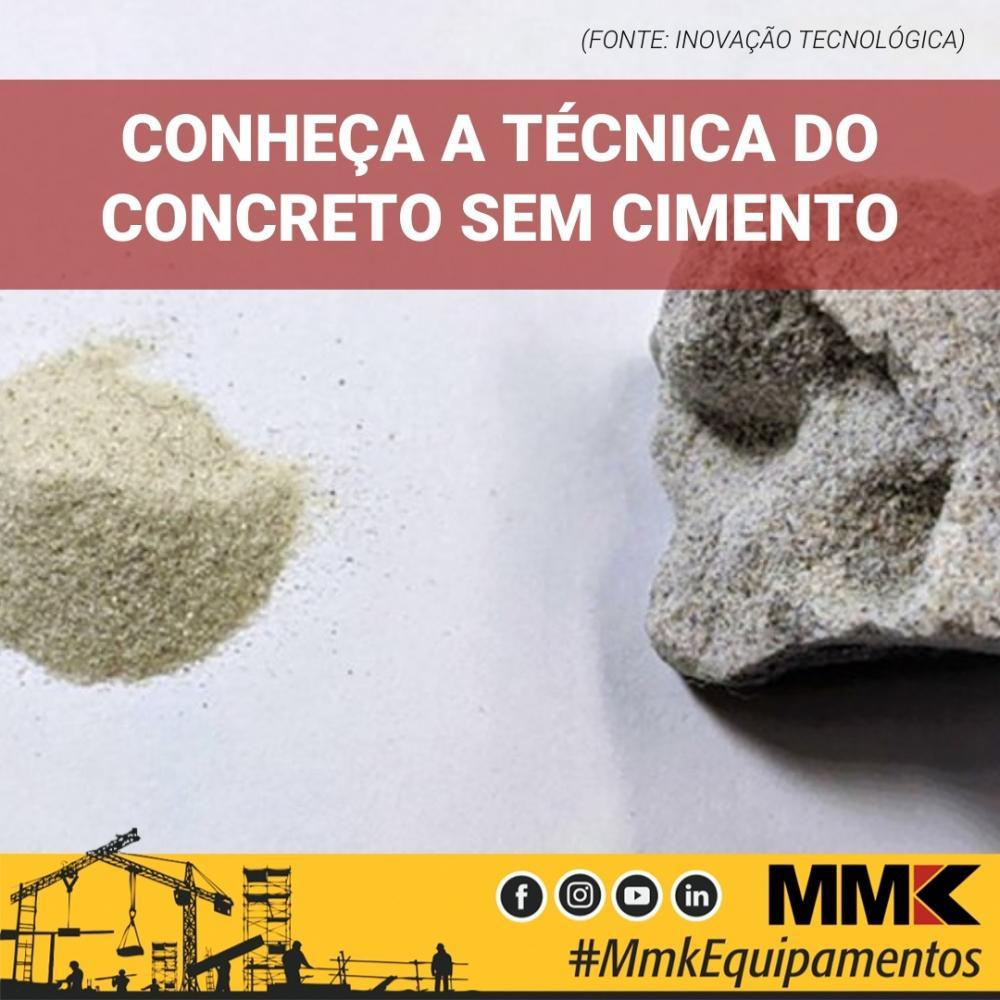Conheça a técnica do concreto sem cimento