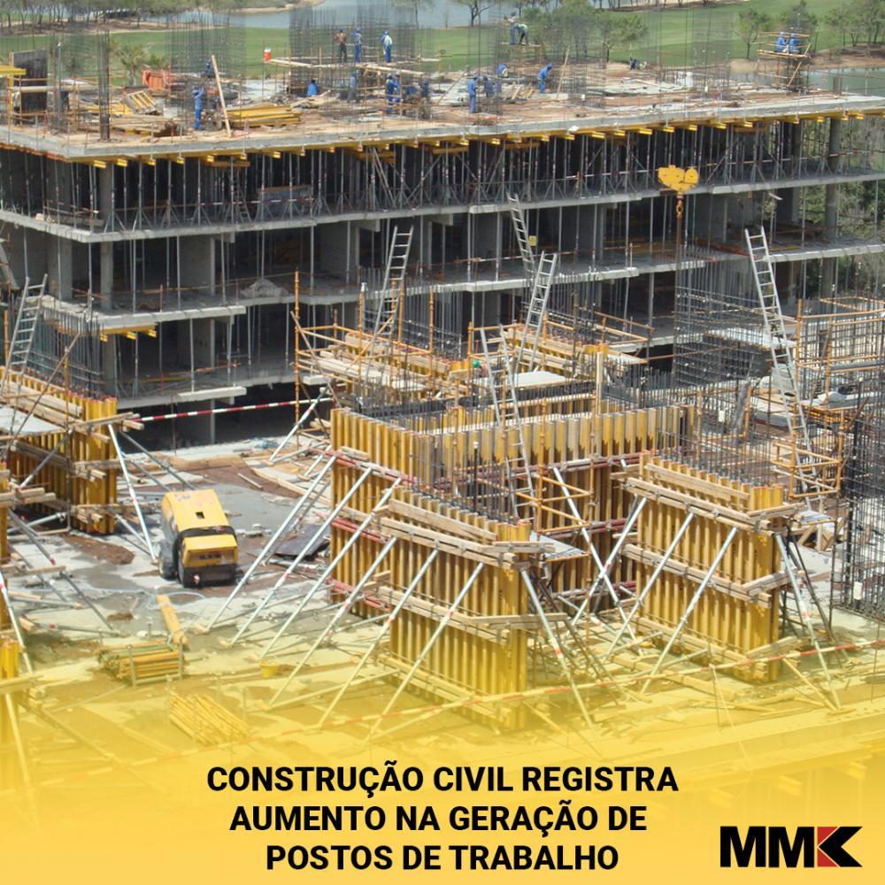 Construção civil registra aumento na geração de postos de trabalho