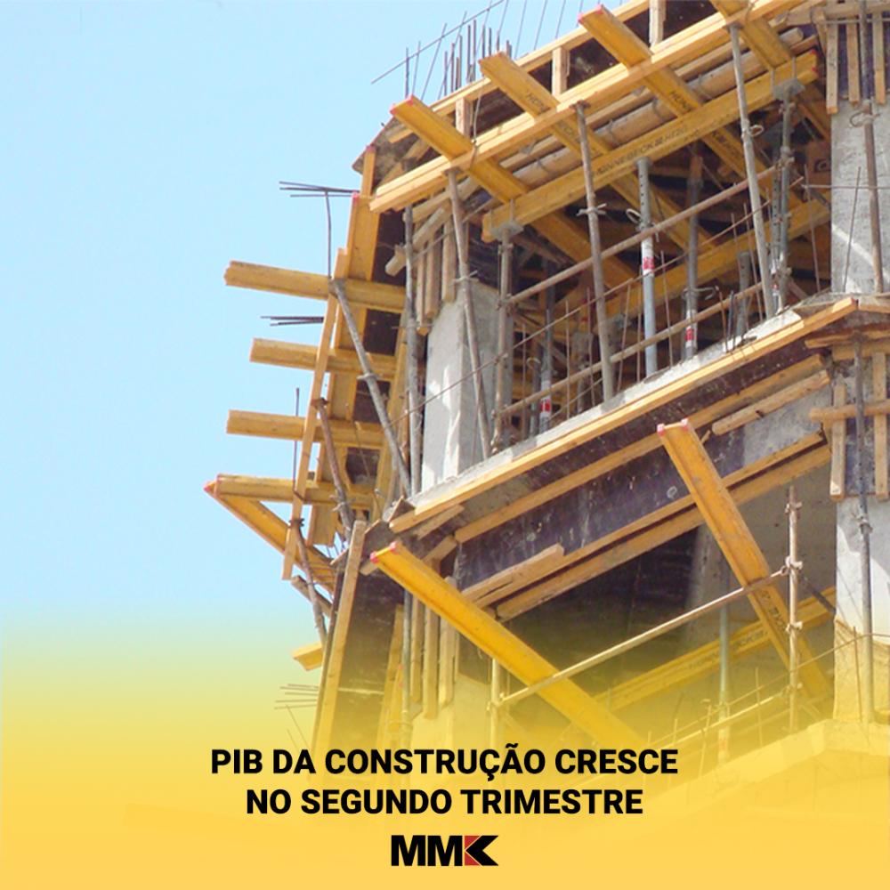 PIB da construção cresce no segundo trimestre
